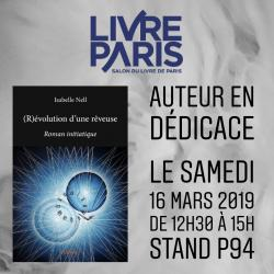 Dédicace - Salon de paris - Isabelle Nell