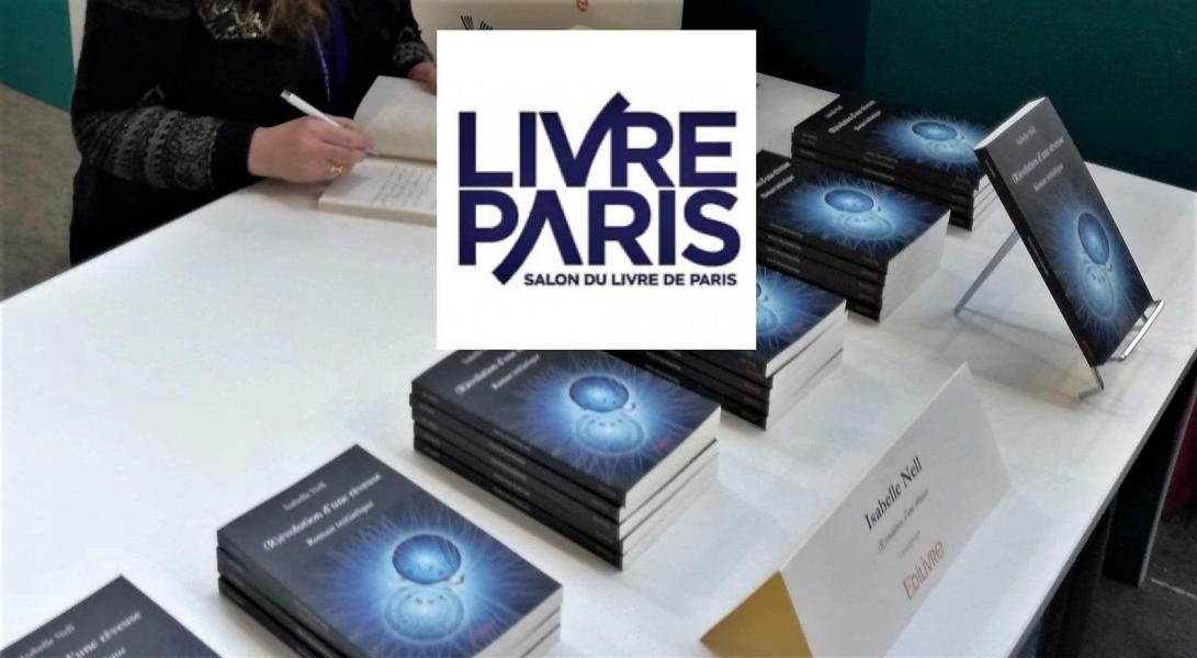 Isabelle nell dedicace salon du livre de paris